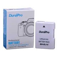 DuraPro 1 PC 1200 mAh EN-EL14 ENEL14 EN EL14 Rechargeable Batterie Pour Appareil Photo Nikon D5200 D3100 D3200 D5100 D5500 P7000 P7100 P7800