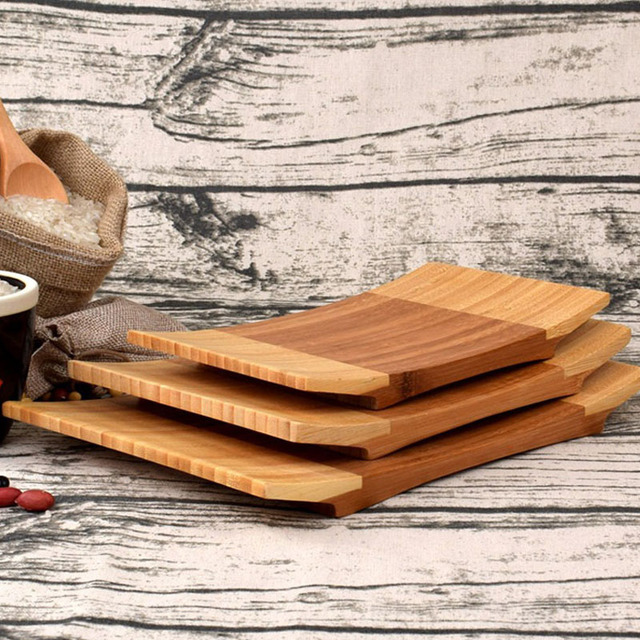 10pcs Japan Style Rectangle Sushi Plate Bamboo Traditional Tableware Cooking Utensils Sushi Tray Eco-friendly & 10pcs Japan Style Rectangle Sushi Plate Bamboo Traditional Tableware ...