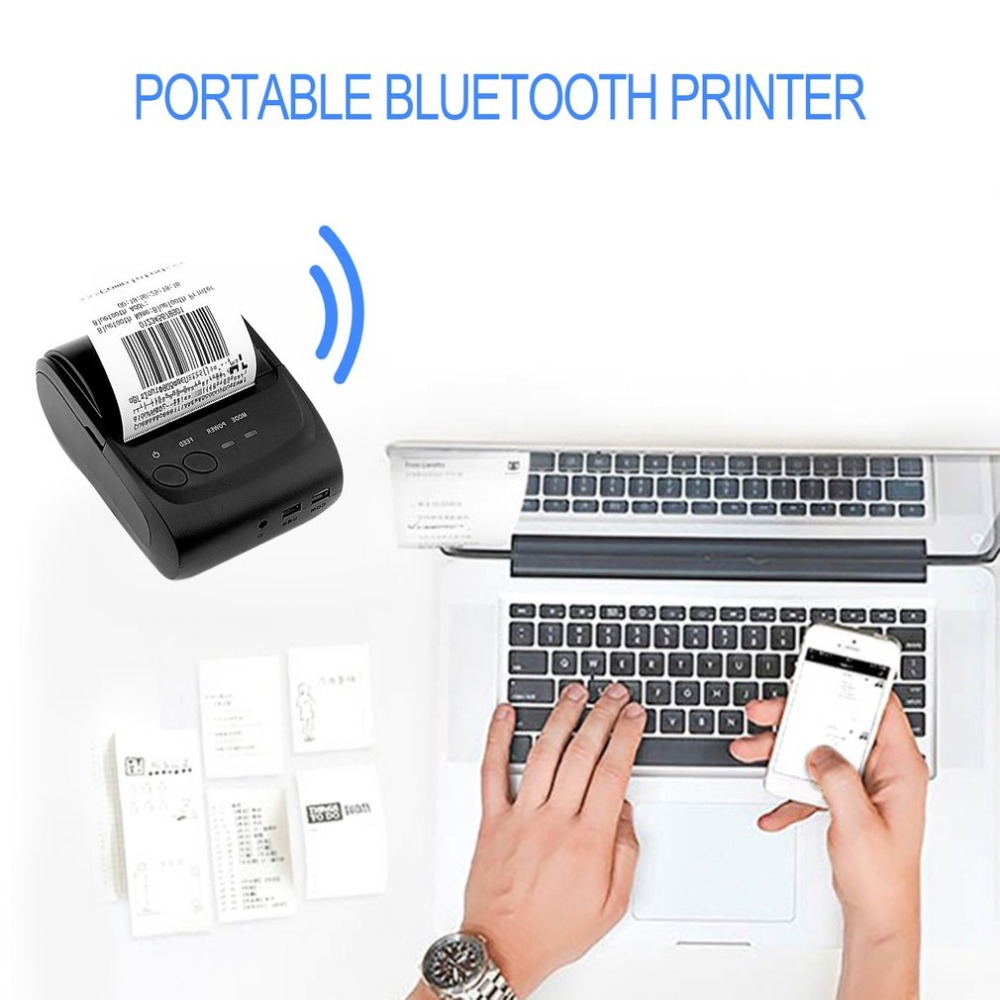 58mm Wireless Bluetooth USB Interface Mobile Portable POS Thermal Line Printing Receipt Printer Electronic For Android System voxlink protable 58mm wireless bluetooth thermal receipt printer usb android mobile phone pos printer for samsung nokia sony