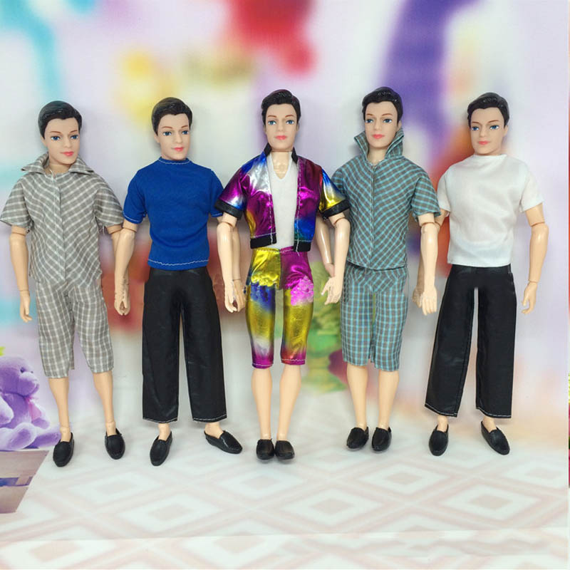 Doll Accessories Handmade T Shirt Pants Short For Barbie s Boyfriend Ken Doll Casual Clothes Male