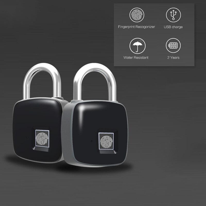 Anti-furto di Smart Blocco Delle Impronte Digitali Impermeabile Keyless Porta Cargo Lucchetto per Porta Borsa Valigia LCC77