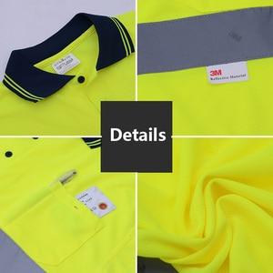 Image 5 - Mens High Visibility Shirt   2 Tone  short sleeve safety reflective work shirt  Summer  Work Wearfree shipping