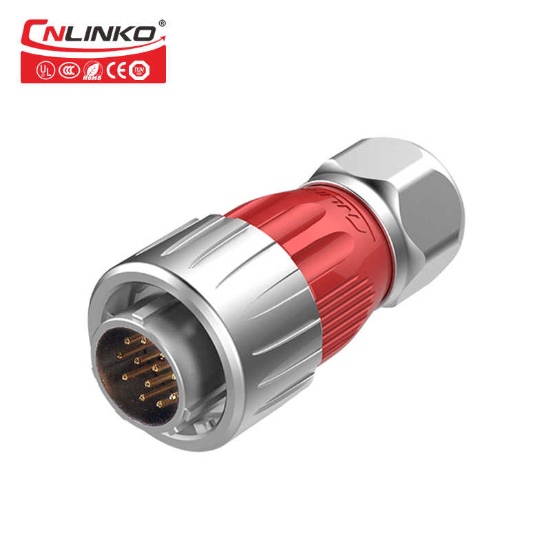 Круглый штыревой разъем IP67 Водонепроницаемый быстрый разъём электрические разъемы 12 Pin аудио оборудование промышленности Женский Разъем
