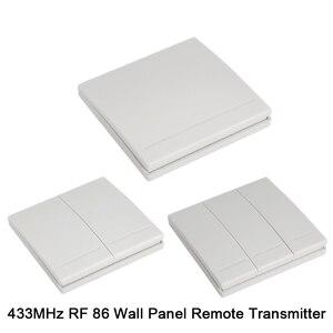 Image 3 - Transmissor e interruptor de controle remoto qiachip, painel de parede sem fio rf 433 mhz ac 110v 220v 1 ch receptor de iluminação do quarto