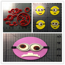 Popular Film Cartoon Character Yellow Color Cookie Cutter Custom Made 3D Printed Cupcake Set For Cake Decorating