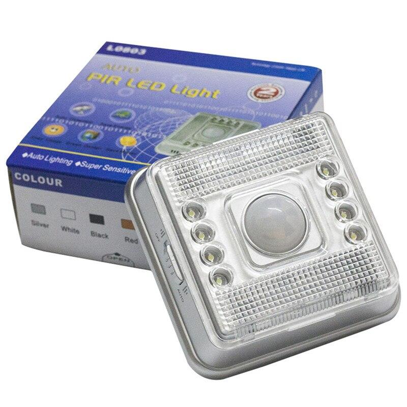 Motion Sensor Light 8 LED Light Lamp PIR Auto Sensor Motion Wireless  Infrared Home Outdoor Detector