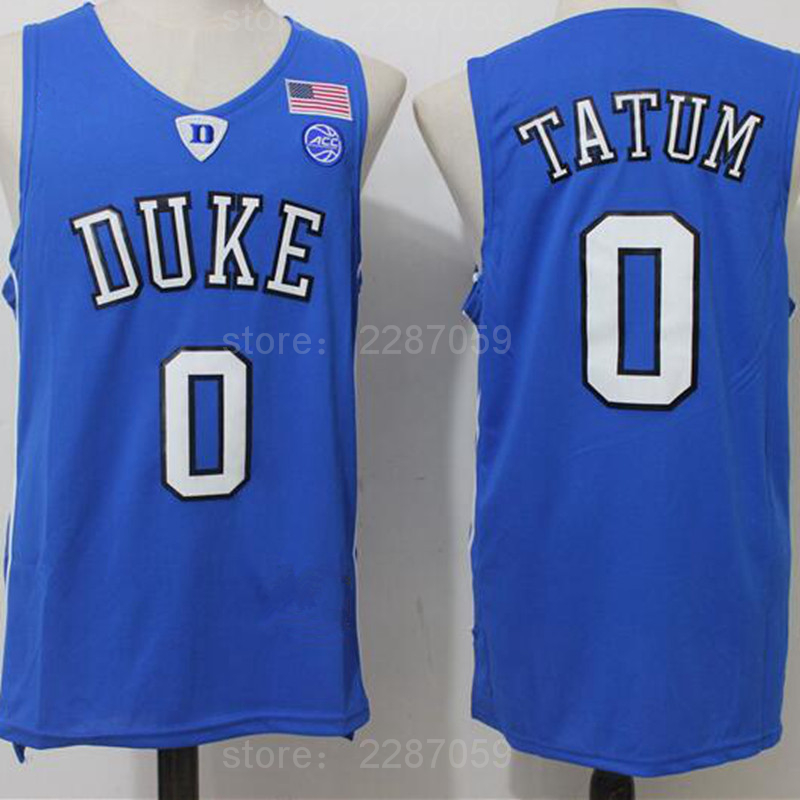 73ed370db Ediwallen Duke Blue Devils 0 Jayson Tatum Jersey Men Black Blue White  Basketball Tatum College Jerseys Sports Uniform Stitched-in Basketball  Jerseys from ...