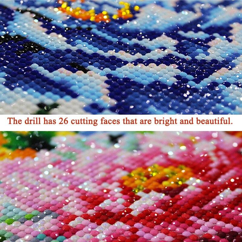 de diamantes decoração animal ponto cruz bordado arte mosaico