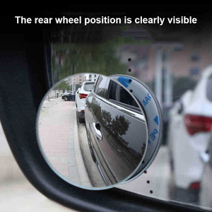 Image 4 - 1 Pair Round Blind Spot Wide Angled Mirror With Adhesive Car Wing Safety HD Rearview Mirrors VS998