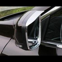 цена на For Renault Kadjar 2015 2016 2017 2018 Car rearview mirror block rain eyebrow Trims Rear View Frame Auto Styling sticker 2pcs