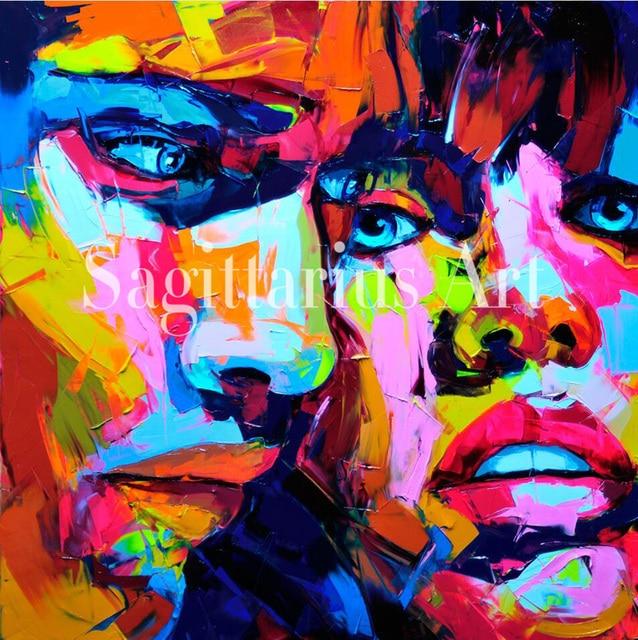 Tangan Dicat abstrak Keren wajah Seni Abstrak Minyak Lukisan