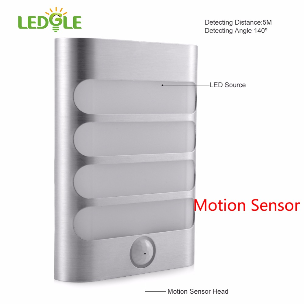 Rechargeable Night Light LED Motion Sensor Wall Lamp Internal 18650 USB Wireless Night Auto For Living Room Hallway Pathway Lamp