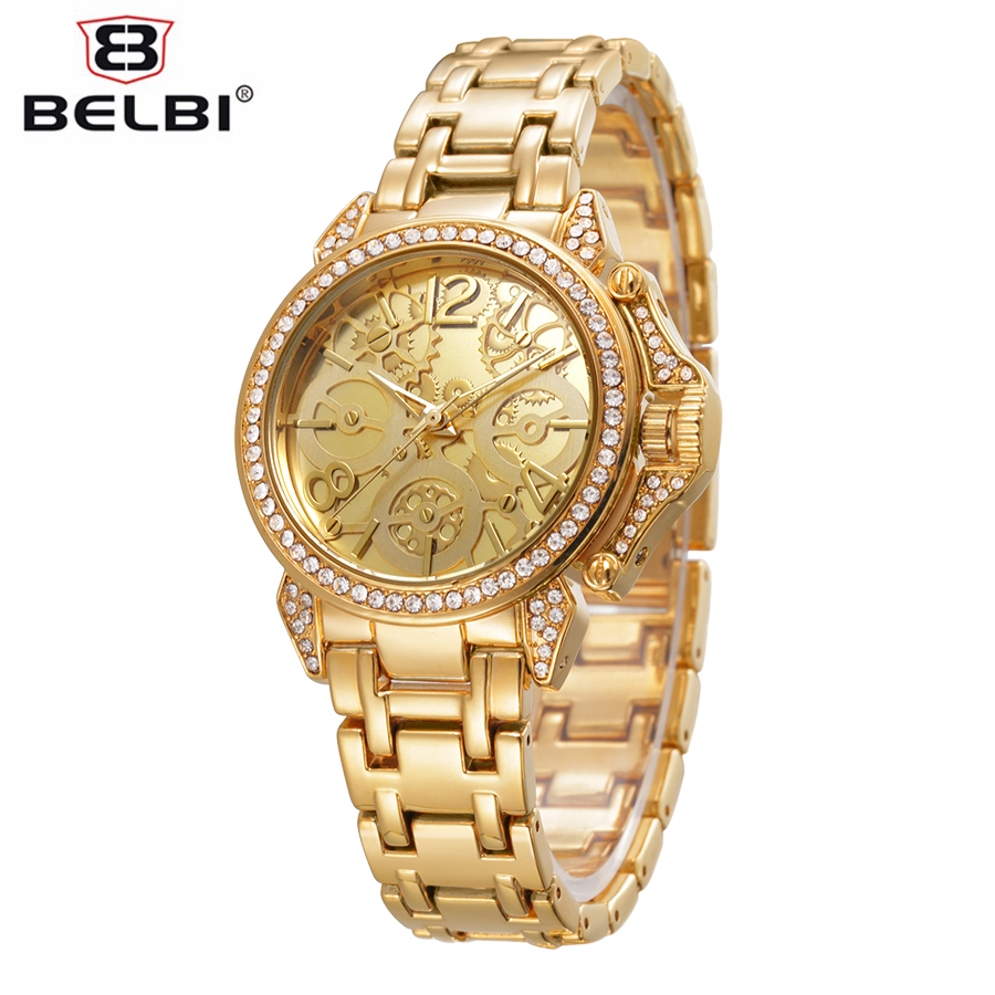 BELBI New Luxury Watch Designed For Women Classic Roman Style Gear Carving Dial Quartz Wristwatch Ladies Fashion Banquet Clock фильтр для воды новая вода expert osmos mo520