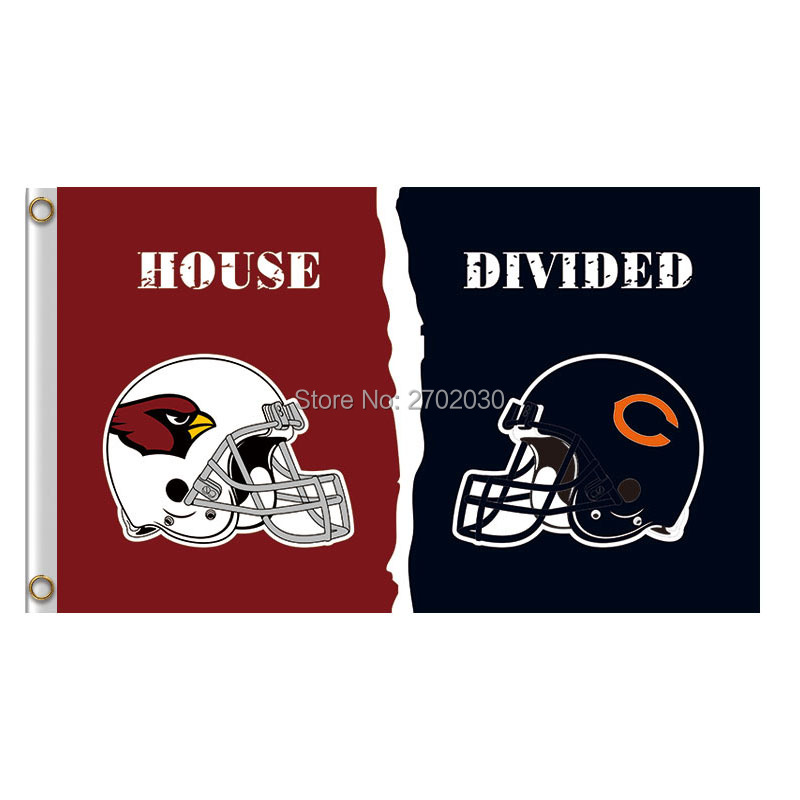 Arizona Cardinals Vs Chicago Bears Banner Helmet Super Bowl Champions Football Team Card ...