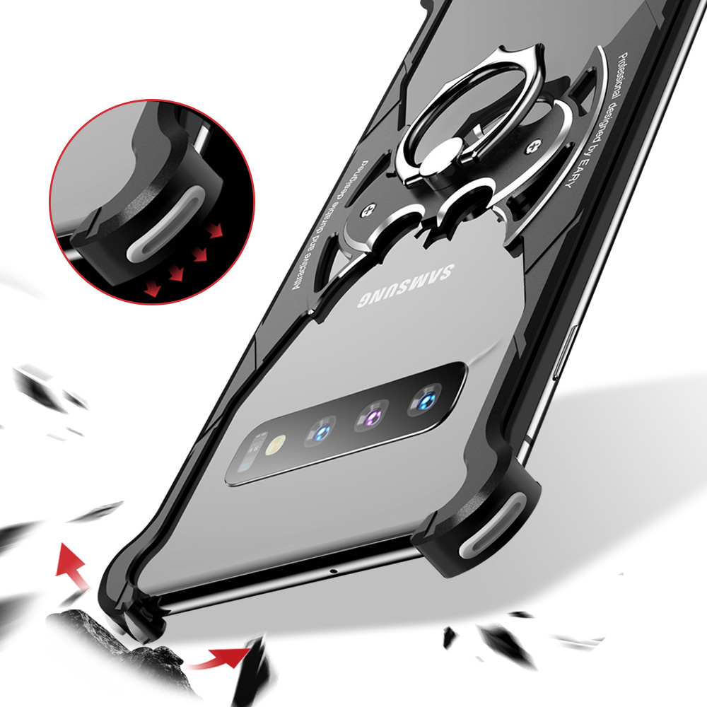 Image 3 - OATSBASF Metal Case For Samsung Galaxy S10 S10 Plus S10e Personality for Metal Bumper Cover shockproof  CasePhone Bumpers   -