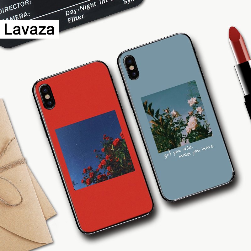 Lavaza Great art prints flowers Silicone Case for iPhone 5 5S 6 6S Plus 7 8 11 Pro X XS Max XR in Fitted Cases from Cellphones Telecommunications