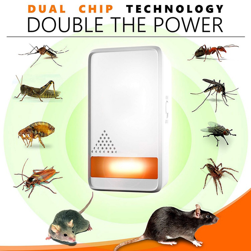Household Ultrasonic Repellent Anti-insect Anti-mouse(British Specification Plug)Pest Control Products Household ItemHousehold Ultrasonic Repellent Anti-insect Anti-mouse(British Specification Plug)Pest Control Products Household Item