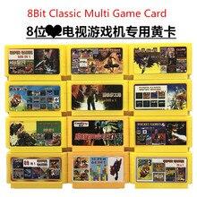 Cartão de jogo amarelo 8bit para console dendy tv