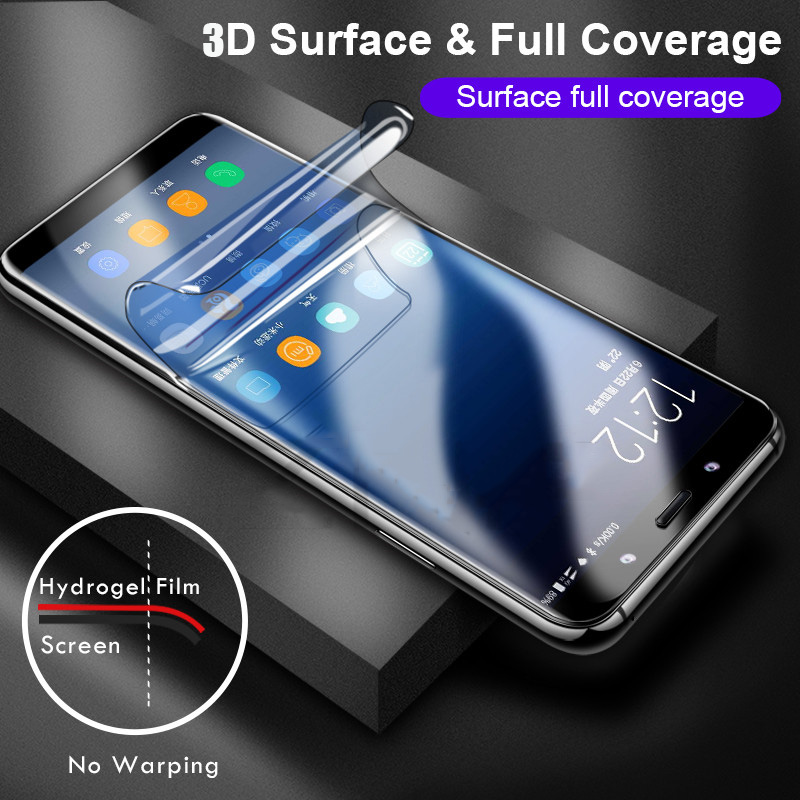 Image 3 - Full Soft Hydrogel Film For Samsung Galaxy S10 S9 S8 A8 Plus Note 10 9 8 Plus Screen Protector For Samsung S9 S10 Plus 5G S7Edge-in Phone Screen Protectors from Cellphones & Telecommunications