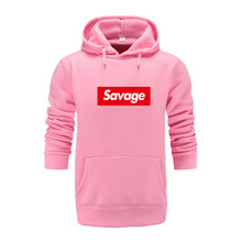 2018 New Pink Mens Hoodies Savage Hoodies Parody No Heart X Savage Mode Slaughter Gang ATL Cotton Long Sleeved Hoodies Suprem платье savage savage sa004ewvjv80