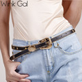 Wink Gal 2016 Fashion Female Star Vintage Strap Gold Metal Pin Buckle Jeans Designer PU Leather Belt For Women 10829