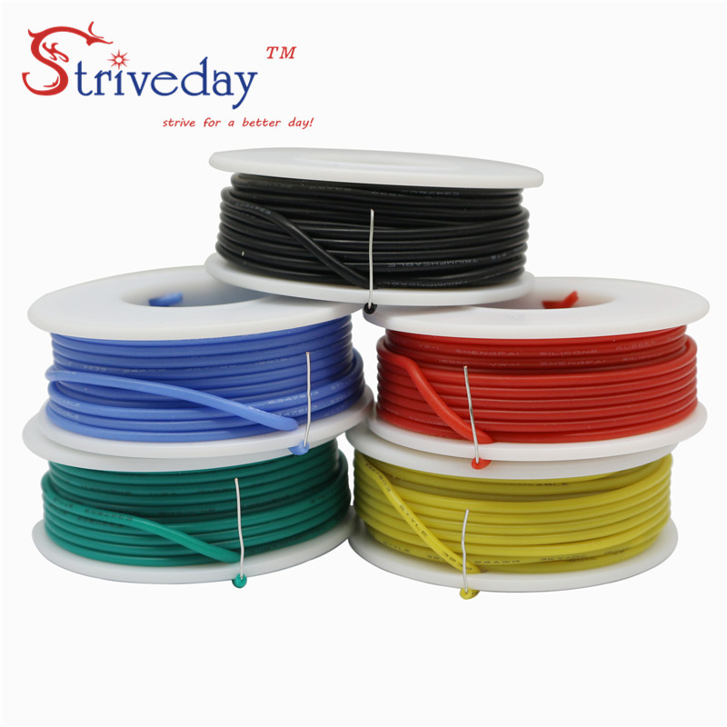 36m//box 1007 20AWG 6 color Mix package Each colors 6m Cable Wire Copper PCB Wire