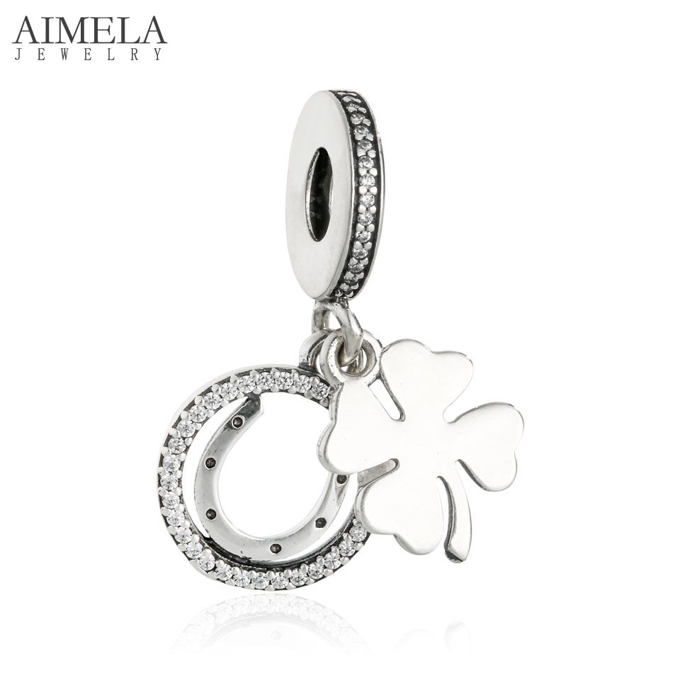 atlanta falcon charm promotion shop for promotional atlanta falcon aimela silver bijoux 2017 spring 925 sterling silver cz four leaf clover horseshoe lucky day charms beads for jewelry making