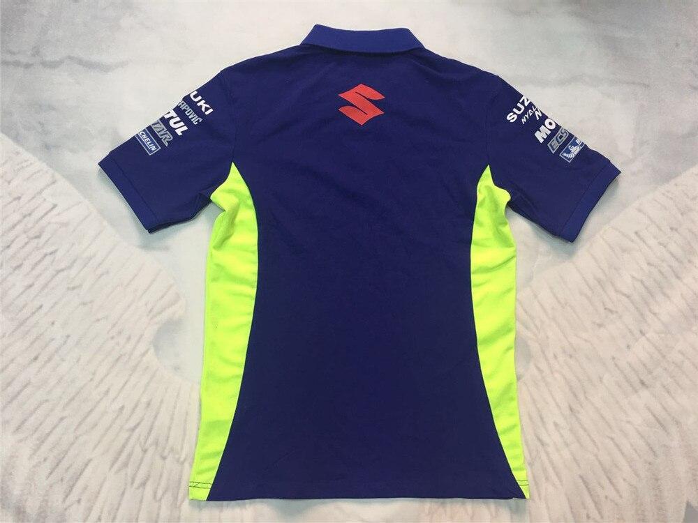 New 2018 Moto GP For Suzuki Team ecstar Mens Polo Shirt Motor Sport GRX Mens Race Polo Shirt Racing Clothing T-shirt