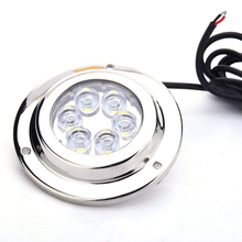 12V Marine Yacht LED Underwater Light Waterproof Stainless Steel Landscape Lamp White/Blue Boat Accessories