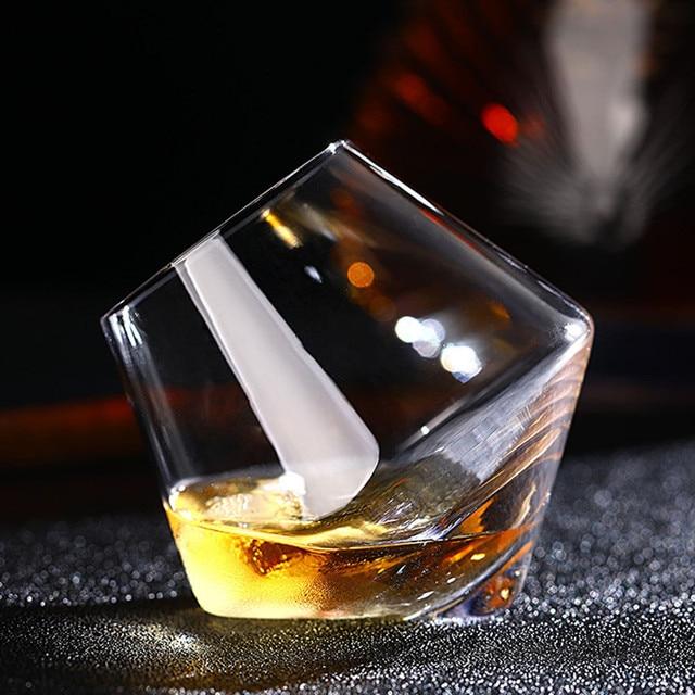 Бренд 2 узор нерегулярные бокал вина бессвинцовые термостойкие прозрачные хрустальные Пиво Виски бокал для бренди посуда для напитков бар ...
