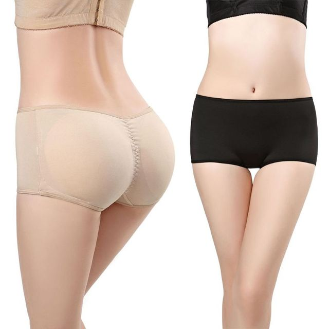 6a966bc59 Womens Plus Size Low Waist Butt Lifter Underwear Removable Padded Seamless  Big Ass Hip Solid Color Shorts Panties Body Shaper