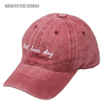 New Bad Hair Day Cap Washed Baseball Women Men Hat Casual Snapback Letter Dad Summer Cotton Adjustable Bone Male