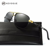 AEVOGUE Polarized Sunglasses For Men Quality Metal Frame Summer Style Luxury Coating Mirror Sun Glasses With