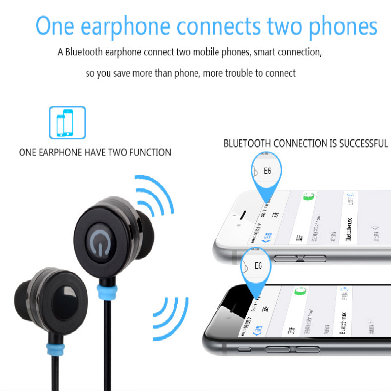 New Fashionable Sports Bluetooth Headset Portable Noise Concelling Earphone Running for All Universal Smart Phone