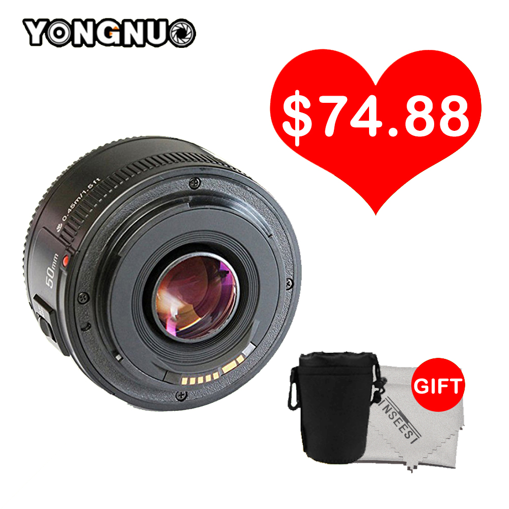 Yongnuo Lens YN50MM F/1.8 Large AF Lens Aperture Auto Focus Lens YN 50mm for Nikon DSLR Camera as AF-S 50mm 1.8G yongnuo yn50mm f 1 8 af large aperture auto focus lens yn 50mm af s 50mm 1 8g lens for nikon d7100 d3100 d5300 d7000 d90 camera