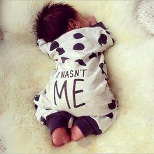 2016 Newborn Infant baby boy Girl clothes Long sleeve romper Dot Jumpsuit Playsuit toddler Kids suit Outfit