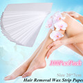 100Pcs/Pack Pro Hair Removal Depilatory Paper Non-woven Wax Paper Waxing Strips For Personal Hair Remover Heater Roll On Waxing