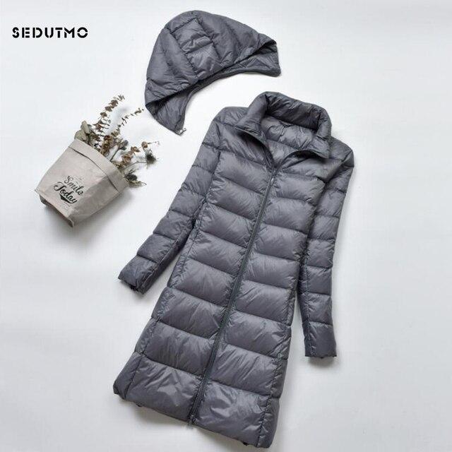 SEDUTMO зима плюс размер 4XL женский пуховик длинный ультра легкий толстый пуховик тонкий Осенние парки ED522