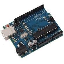 UNO R3 для Arduino (с ЛОГОТИПОМ) UNO R3 MEGA328P ATMEGA16U2 1 ШТ. + 1 ШТ. кабели