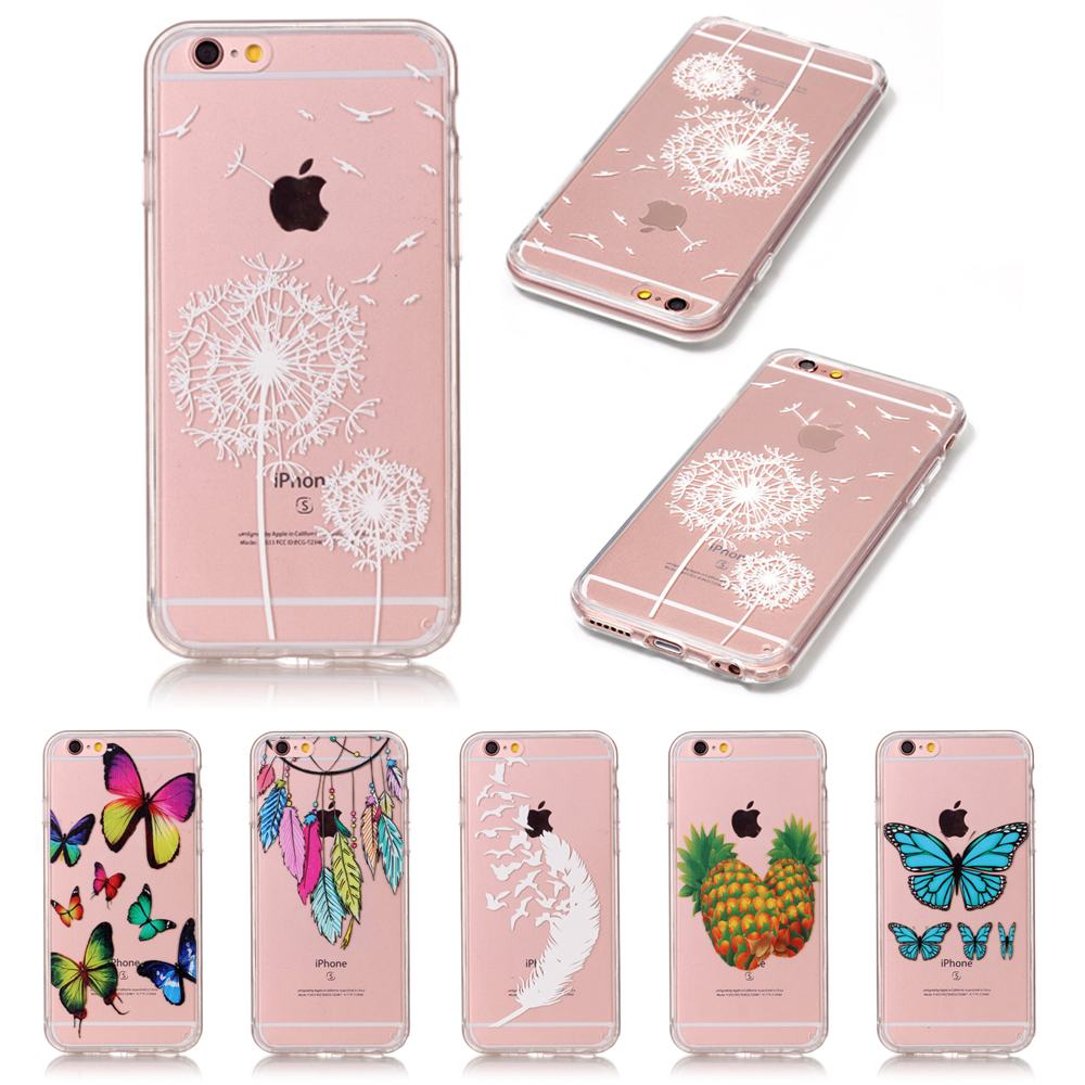 For Apple iPhone 6 Case Silicone Silicone Transparent Back Cover Case iPhone 6S Case Transparent Clear Cover For Fundas iPhone 6