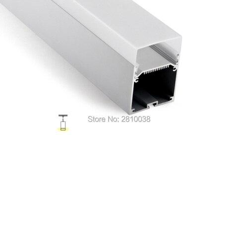 100 x conjuntos de 2 m lot prata anodizado perfil de aluminio para led listras