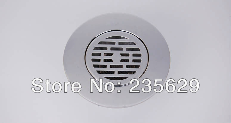 Free Shipping, 384g Brass floor drain,Anti odor, Anti water backing, Anti virus,Chrome Plated Surface, Diameter is 44mm image