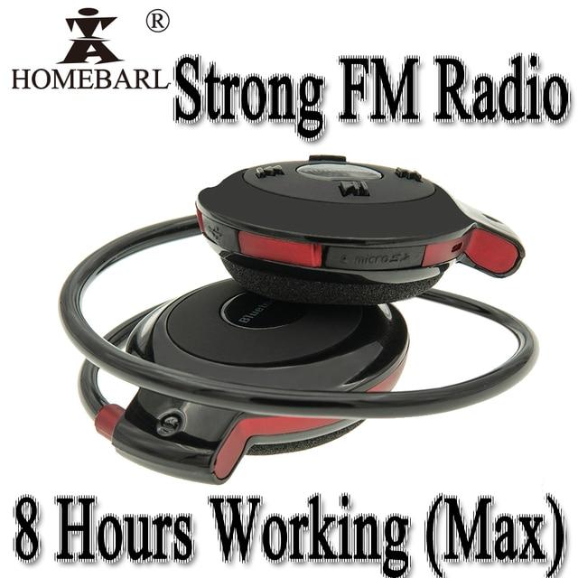 8 horas de trabajo fuerte FM Radio 503 Bluetooth 4,0 auriculares Mini 503 auriculares inalámbricos Sport auricular + 64GB 32GB 16GB 8GB TF tarjeta