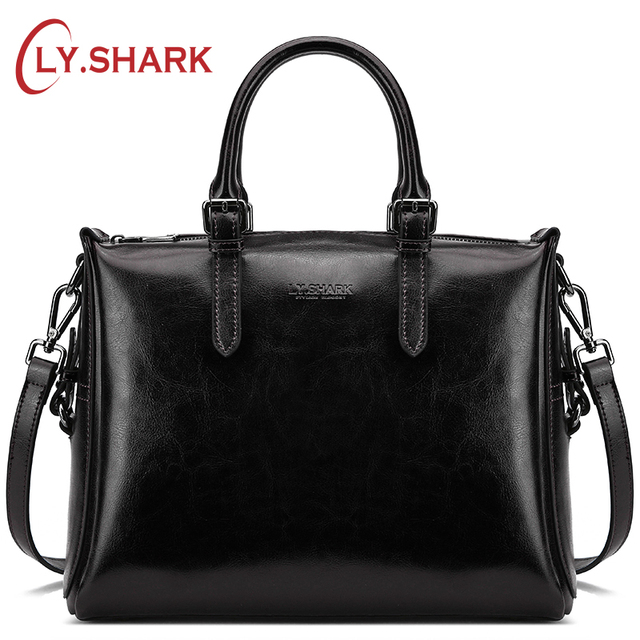 ccd736e1ab0 US $44.61 29% OFF|LY.SHARK Women's Genuine Leather Handbags Luxury Handbags  Women Bags Designer Women Messenger Bags Crossbody Bags For Women-in ...