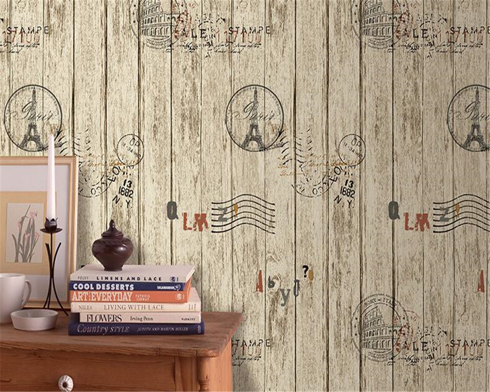 beibehang 3d duvar kagidi mural wall paper 3d American Retro Wood Wallpaper 3d Home Decor Cafe Bar KTV wallpaper for walls 3 d beibehang american retro wallpaper roll desktop living room 3d wall paper home decor tv background green wallpaper for walls 3 d