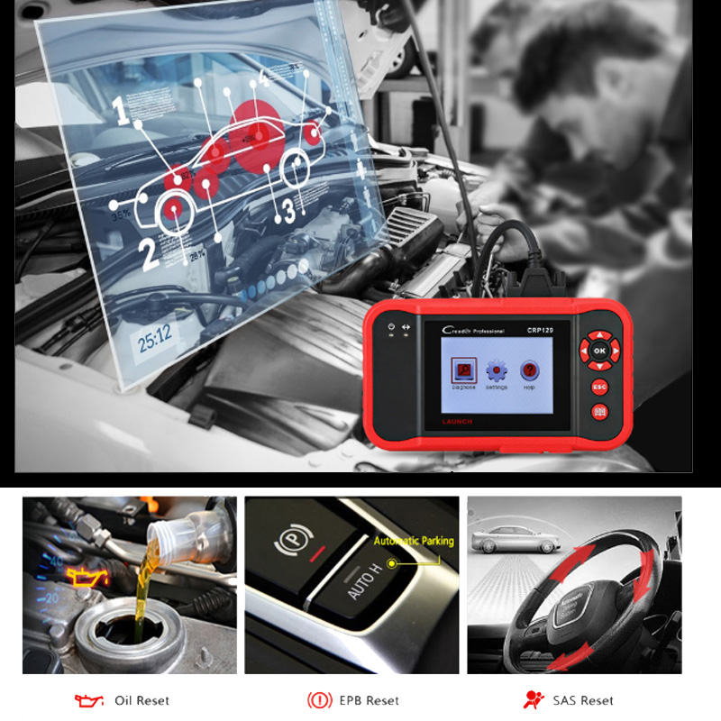 Image 3 - Launch X431 Creader 129 CRP129 OBD OBD2 OBEII Four system Scanner ENG/AT/ABS/SRS Reset Funcitons Diagnostic Tool Launch Hot Sale-in Code Readers & Scan Tools from Automobiles & Motorcycles