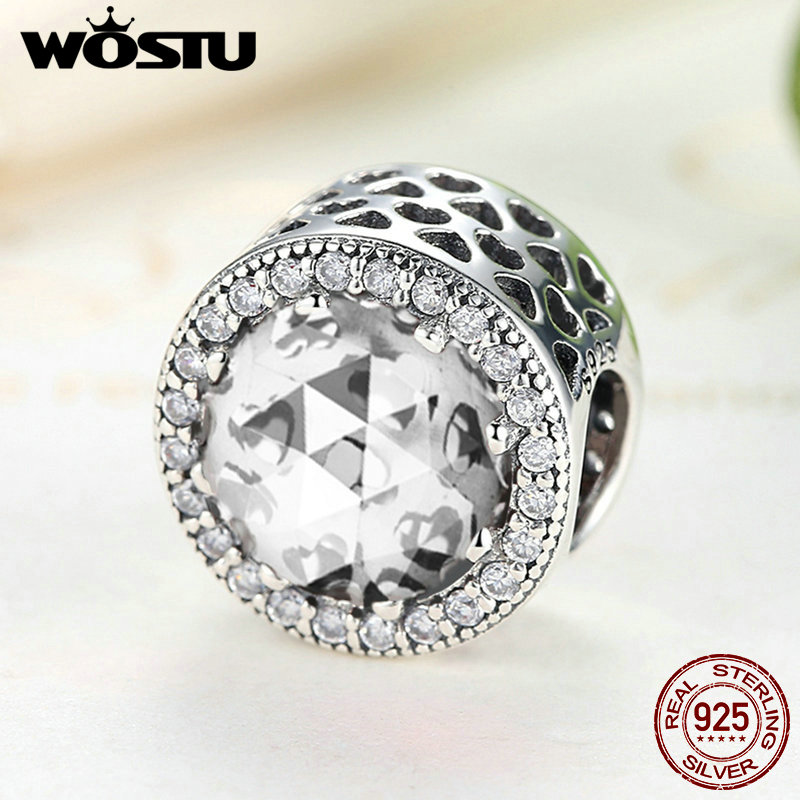 2018 Hot Sale 925 Sterling Silver Radiant Hearts Charm Beads Fit Original wst Bracelet Authentic Fine Jewelry