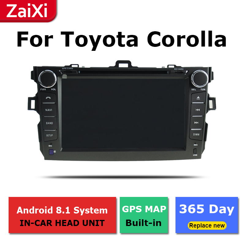 For <font><b>Toyota</b></font> <font><b>Corolla</b></font> <font><b>E150</b></font> Hatchback 2006 2007 2008 2009 2010 2011 2012 Car Android Radio Multimedia Player GPS Screen WiFi BT image