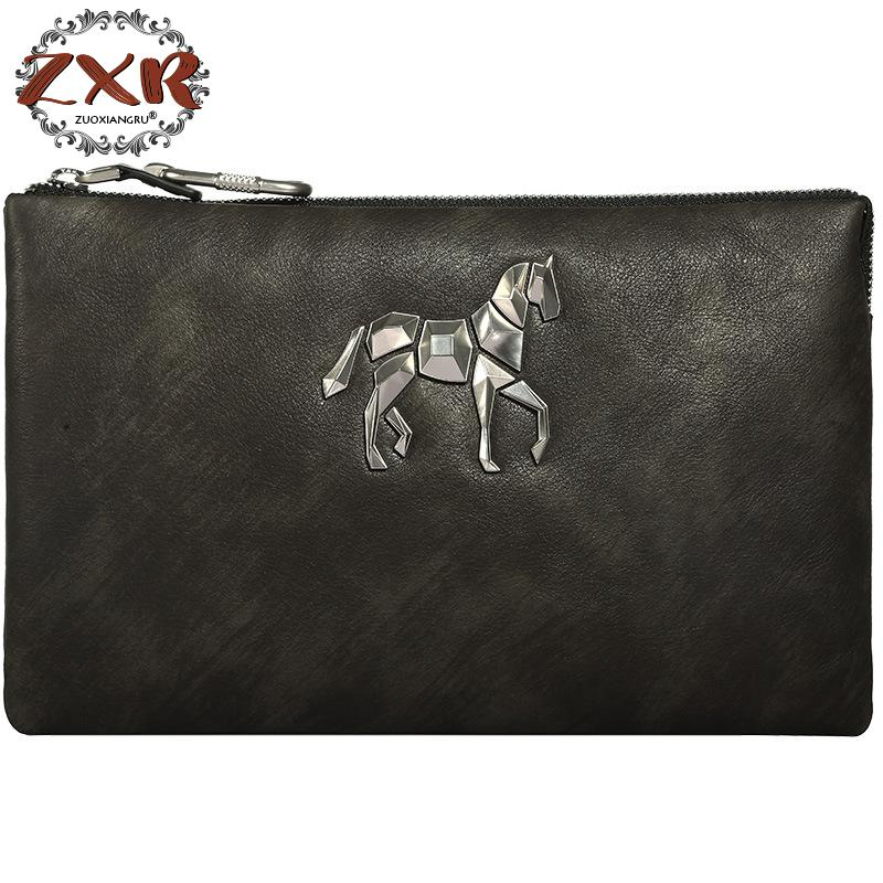 New Fashion Korean Version Of The Unicorn Leather Mens Hand Bag Envelope Large Capacity First Layer Leather Clutch GenuineNew Fashion Korean Version Of The Unicorn Leather Mens Hand Bag Envelope Large Capacity First Layer Leather Clutch Genuine