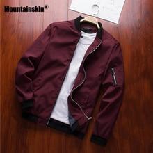 Коллекция, мужские куртки, весна-осень, повседневные пальто, куртка-бомбер, тонкая модная мужская верхняя одежда, мужская брендовая одежда, 6XL, SA585